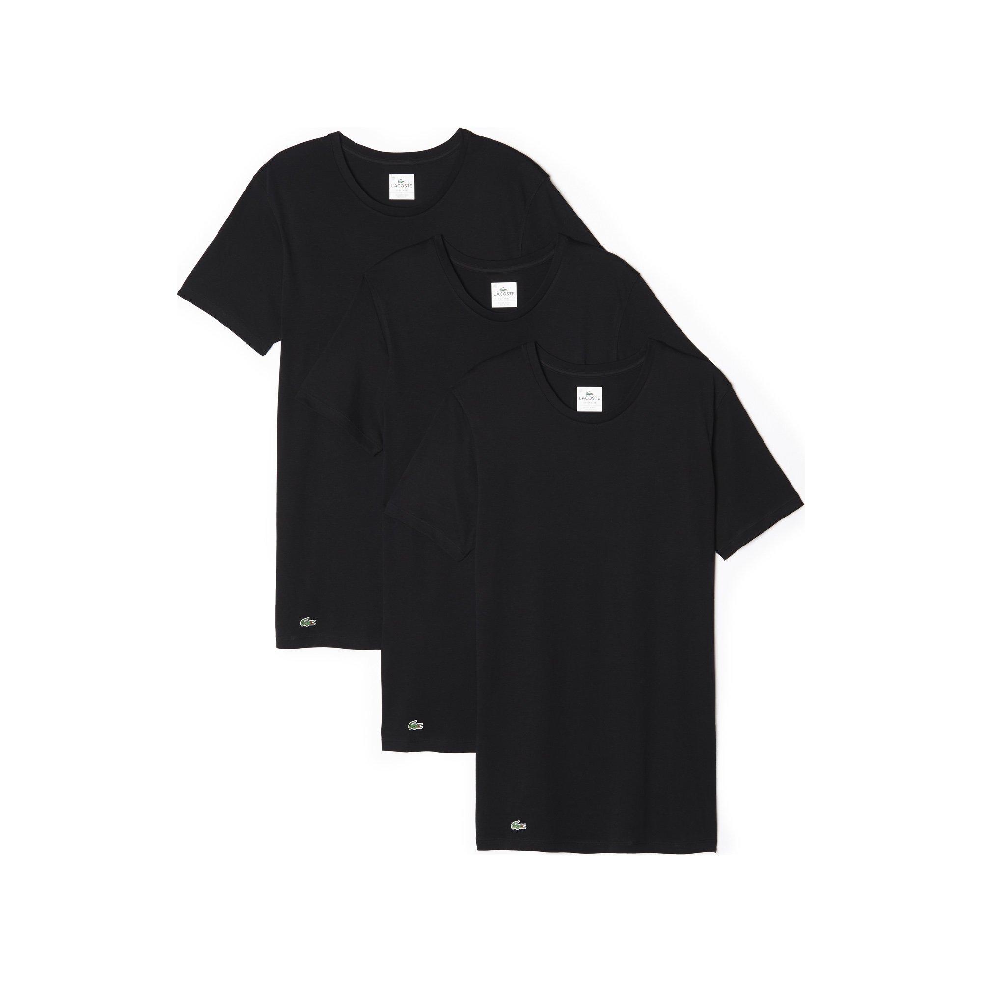 c67f8b67d5237 Galleon - Lacoste Men s Essentials Cotton Crew Neck T-Shirt