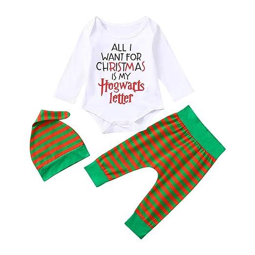 b472ab6e0 Amazon.com  Keliay Infant Baby Boys Girls Christmas Xmas Letter ...