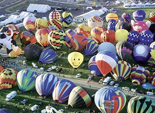 Balloons Galore: Hot Air Balloons on the Ground, Albuquerque Balloon Festival (1000 Piece Puzzle by LPF) ! ()