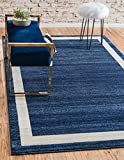 Unique Loom Del Mar Collection Contemporary Transitional Navy Blue Area Rug (3′ x 5′) Review