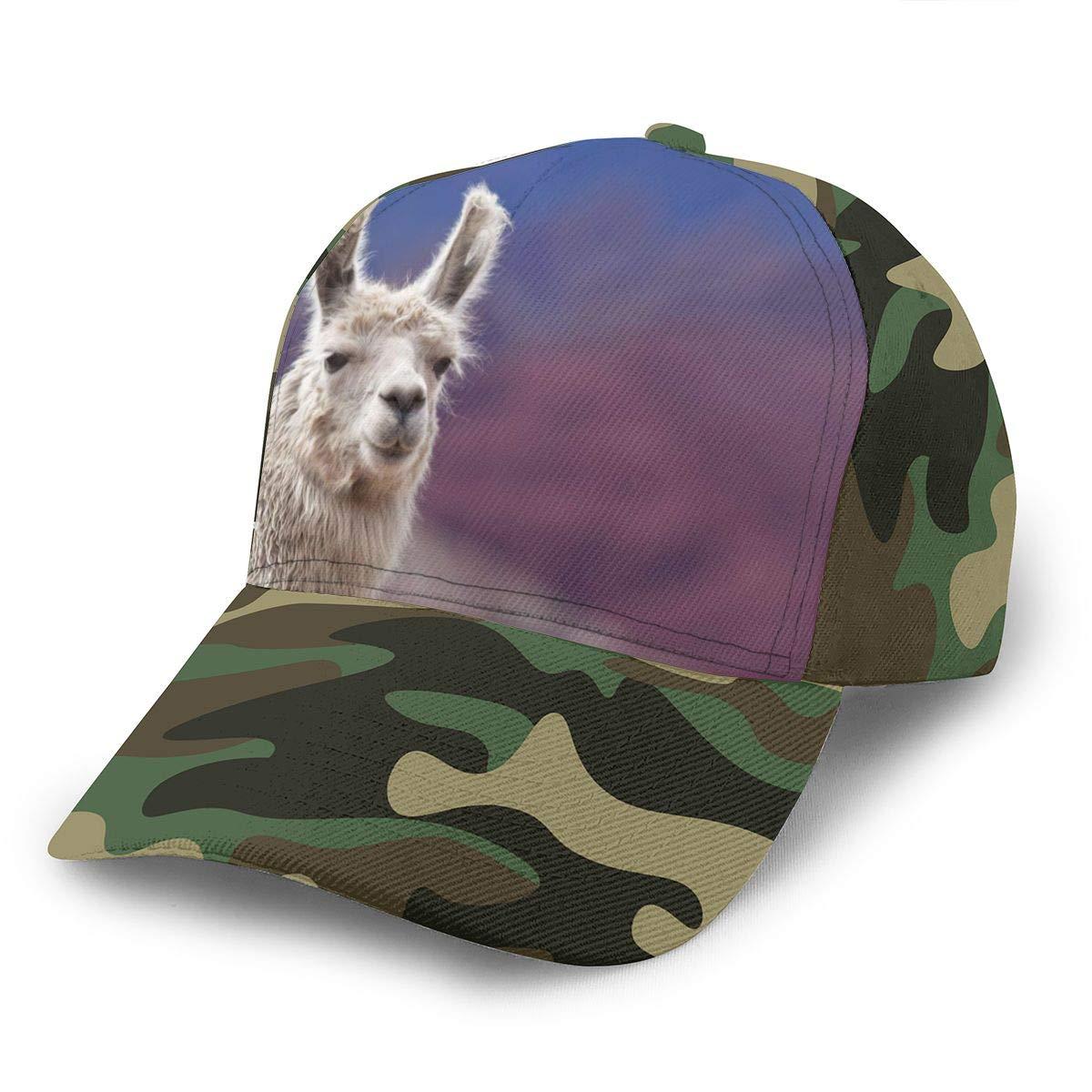 Y94OIW@MAO Llama Baseball Cap for Unisex Cotton Mountaineering Cap