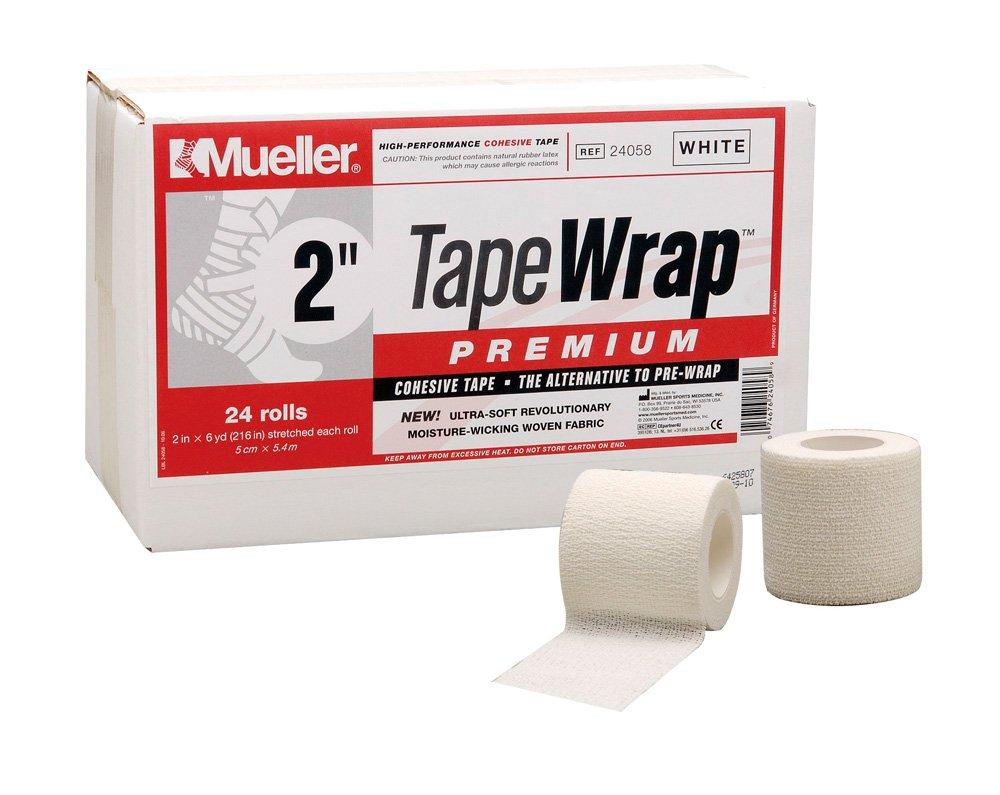 Mueller(ミューラー) テープラッププレミアム Tape Wrap Premium 50mm [24個入り] 自着性 伸縮テープ 24058 ホワイト 50mm   B001C0C5BE