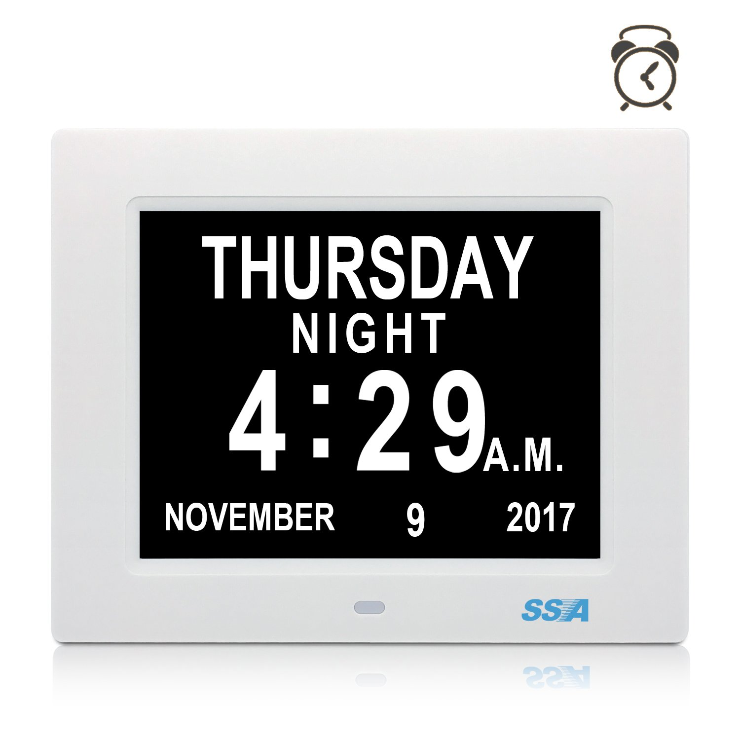 Digital calendar day clock with large clear time day and date digital calendar day clock with large clear time day and date display wall hanging or deskshelf clock ideal for impaired vision memory loss amipublicfo Images