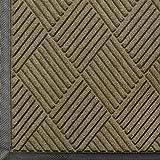 Andersen 208 Waterhog Classic Diamond Polypropylene Fiber Entrance Indoor/Outdoor Floor Mat, SBR Rubber Backing, 6' Length x 3' Width, 3/8