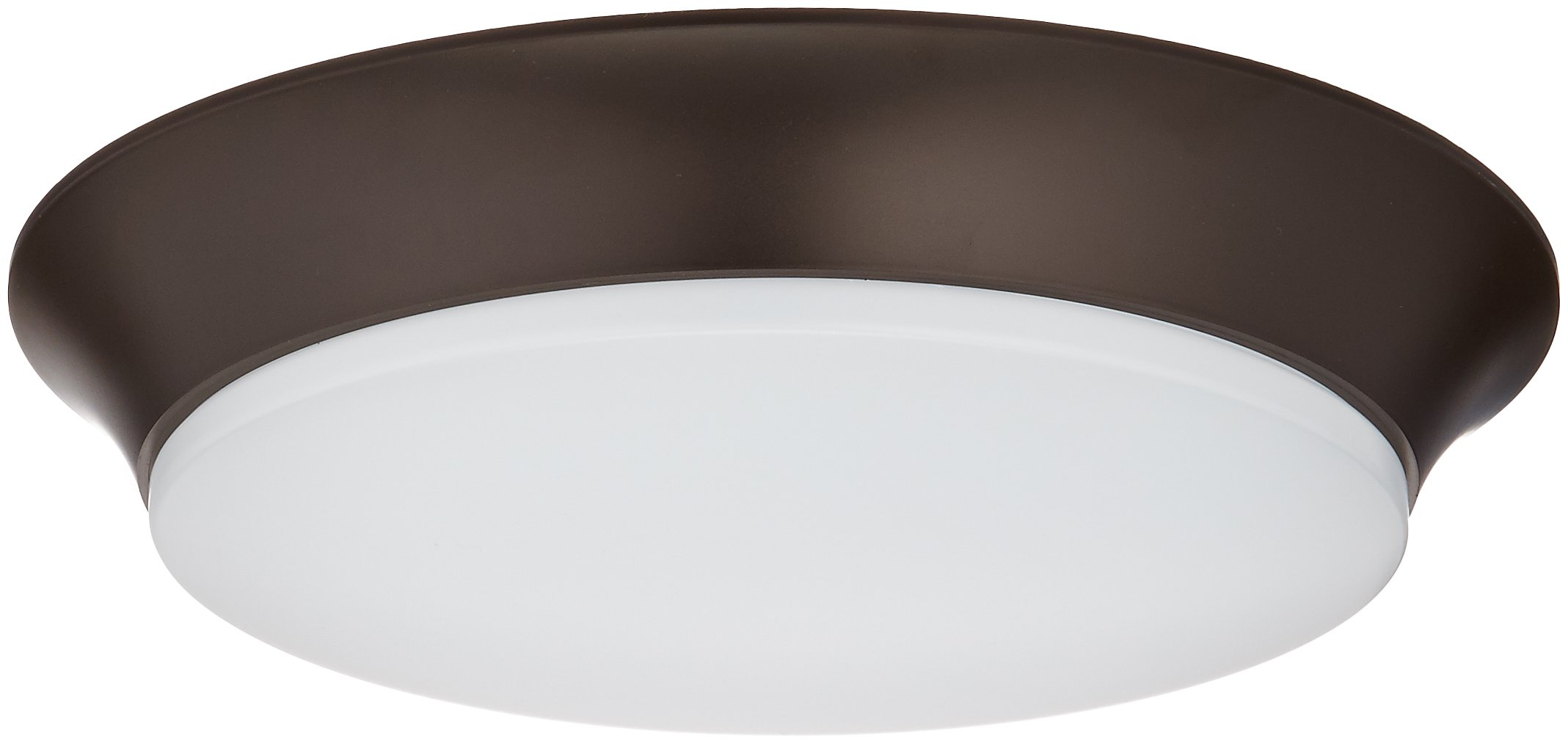 Maxim 87590WTBZ Profile EE LED Flush Mount, Bronze Finish, White Glass, LED Bulb , 60W Max., Dry Safety Rating, Standard Dimmable, Glass Shade Material, 2016 Rated Lumens
