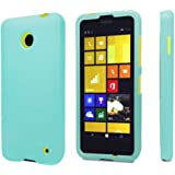 Spots8® for Nokia Lumia 630/635, 2 Piece Snap On Cellphone Cell Phone Hard Protective Case Cover with Free Screen Protector - Mint