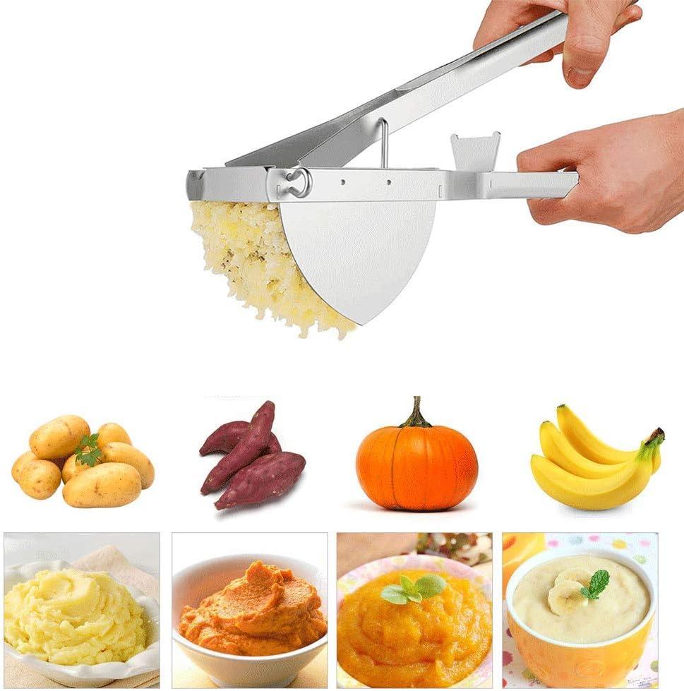 BOLLAER - Mascarilla de acero inoxidable para hacer patatas fritas, colador de alimentos para bebés, colador de frutas y verduras para puré de patatas cremosas