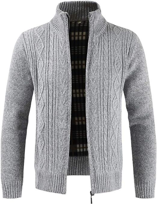 chaqueta de lana con cremallera hombre