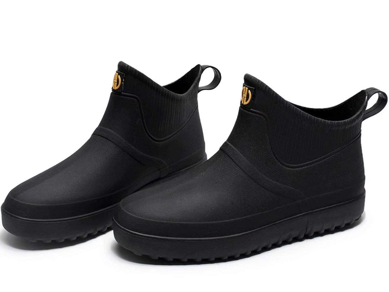 WANONE Stivali di Gomma Uomo Bambino Stivaletti Pioggia Stivaletto alla Impermeabili Wellington Bassi Chelsea Boots