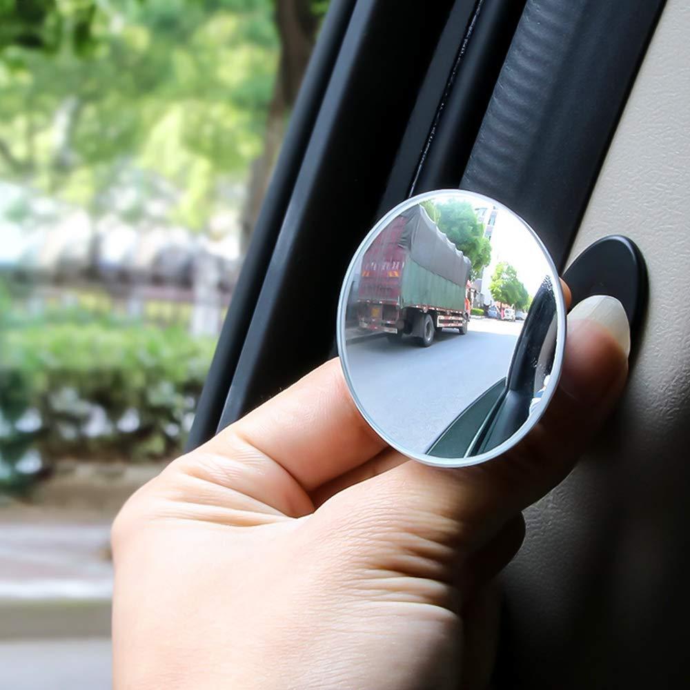 Souarts Toter Winkel Spiegel Runde Verstellbare Selbstklebende Konvexe f/ürs Auto 360 Weitwinkel