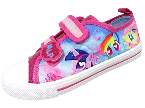 bd2b6f63f9c5 William Lamb Girls MLP My Little Pony Pink Glitter Hook and Loop Trainers  UK Size 6