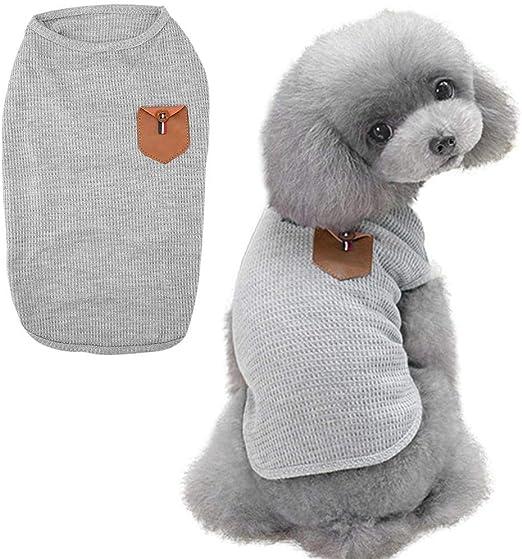 Pssopp Camisetas para Perros Ropa Camisas de algodón Suaves y Transpirables Chaleco del Perrito Camisas para Mascotas Ropa Ropa Ropa para Perros de Verano para Perros pequeños Gatos Perritos(S-Gris): Amazon.es: Productos para
