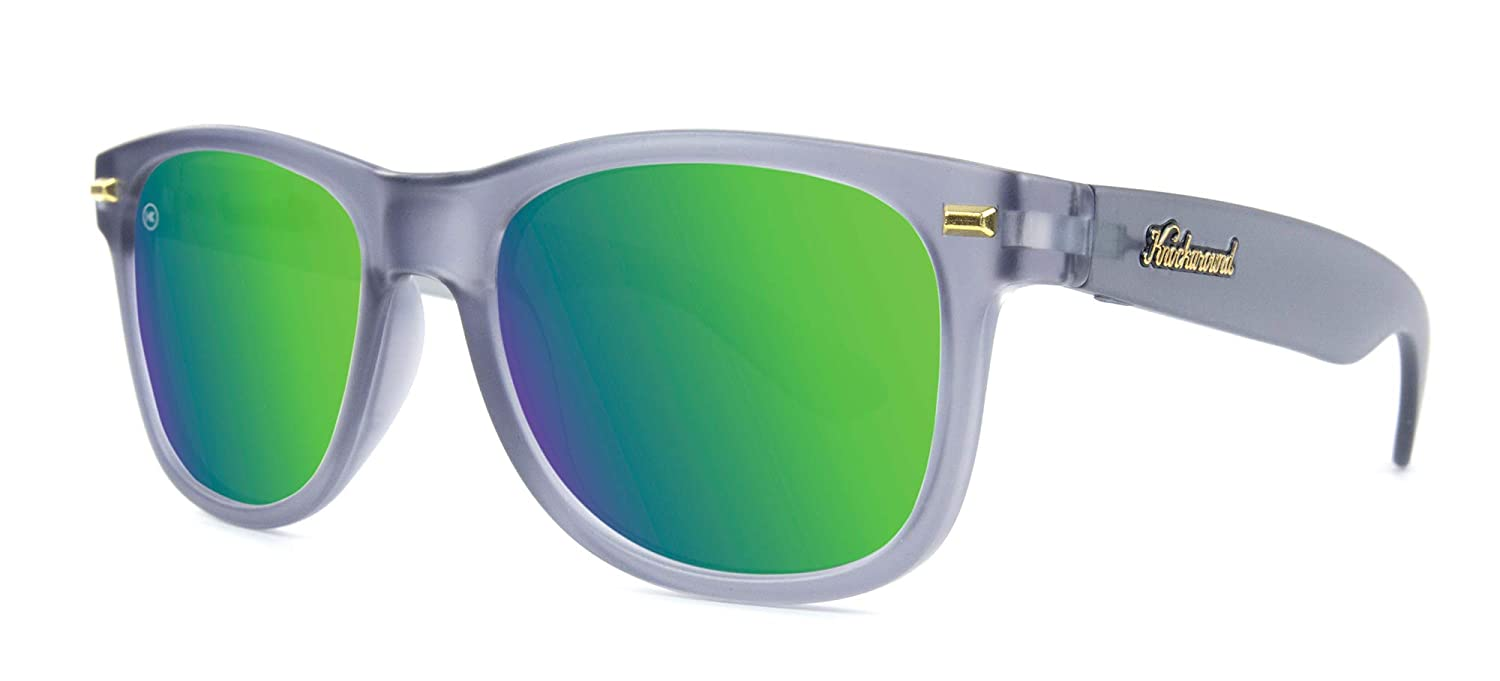 3e6947a36 Amazon.com: Knockaround Fort Knocks Polarized Sunglasses, Frosted Grey/Green  Moonshine: Clothing