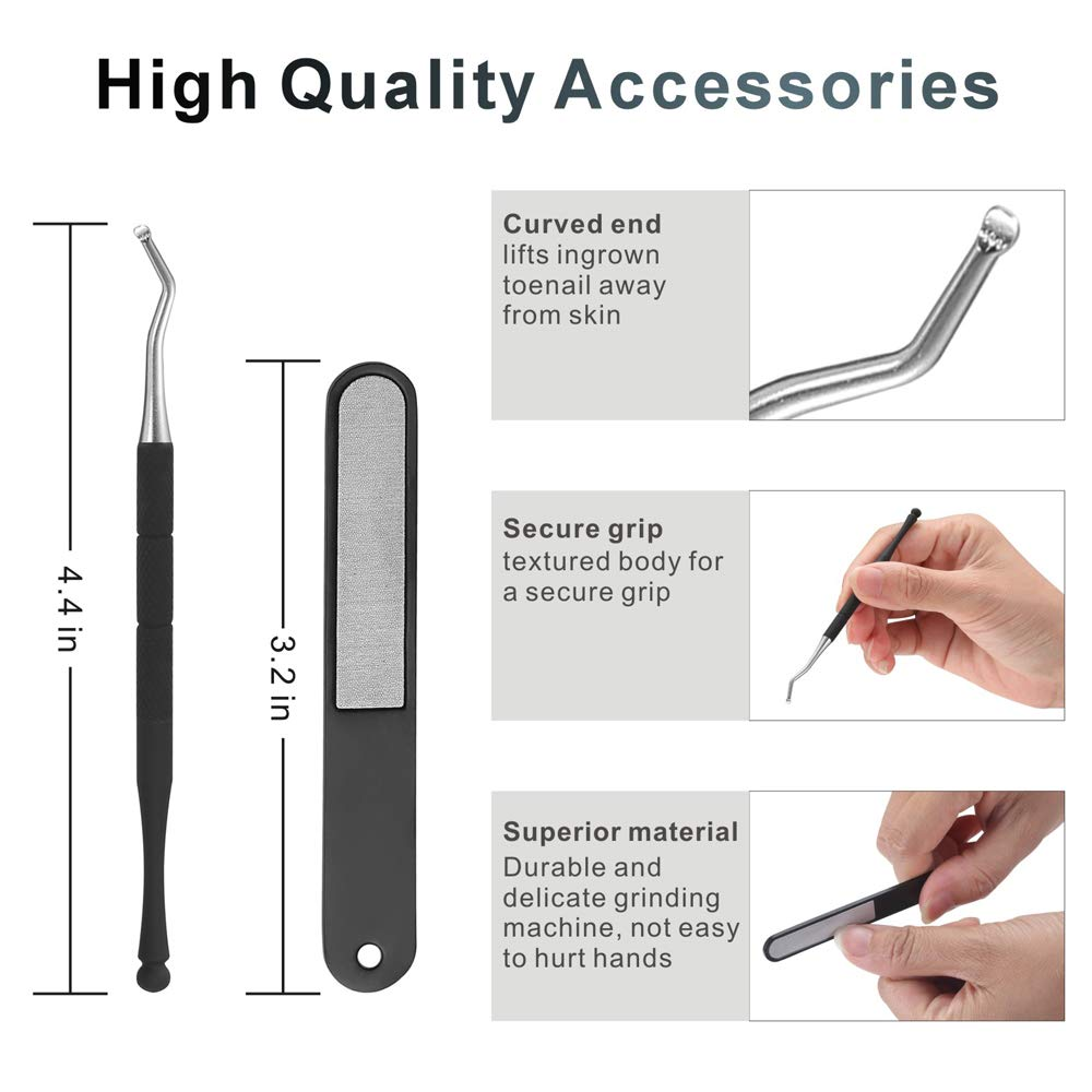 Bacada Upgraded Toenail Clipper for Thick or Ingrown Nails