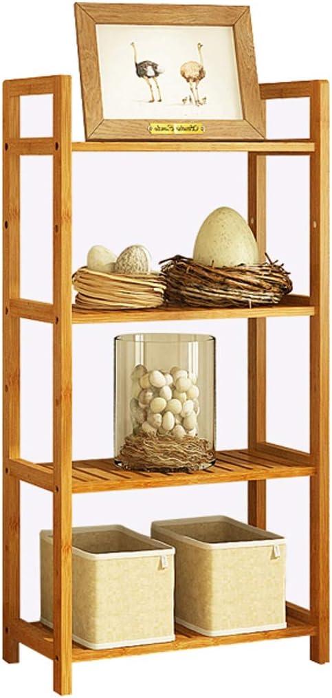 Diverse opzioni bamb/ù in Legno Massiccio Montaggio a Pavimento del Bagno Scaffale in bamb/ù Square-35 WWWANG Semplice libreria per Soggiorno Libreria