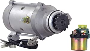 Rareelectrical NEW STARTER MOTOR COMPATIBLE WITH WITH SOLENOID 1976 HONDA GOLDWING GL1000 LTD 31200371-505