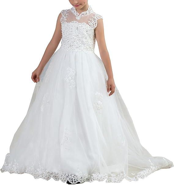 robe blanche longue pailette enfant