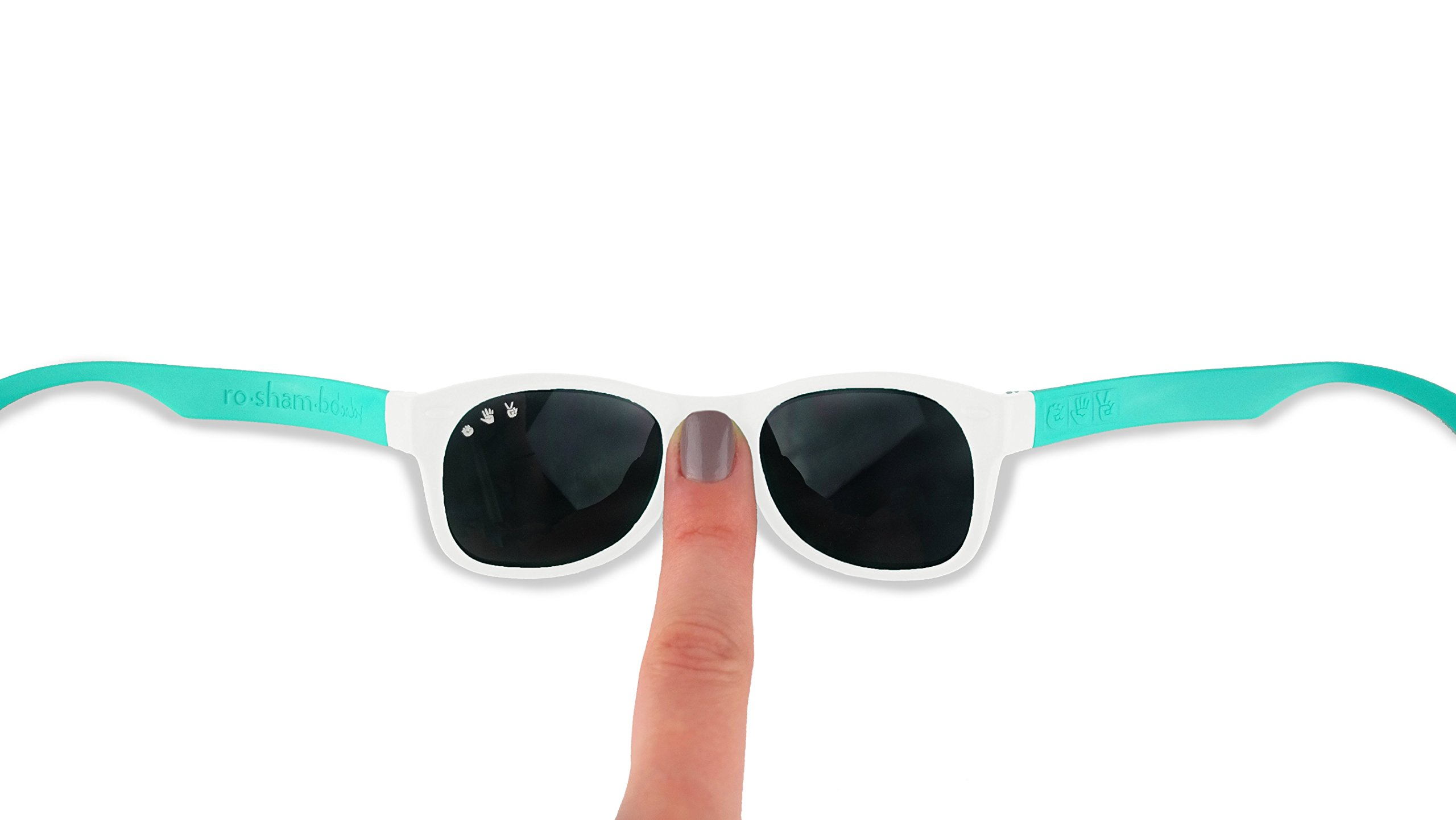 Roshambo Junior Shades, 90210 (Teal/White) by Roshambo Baby (Image #2)