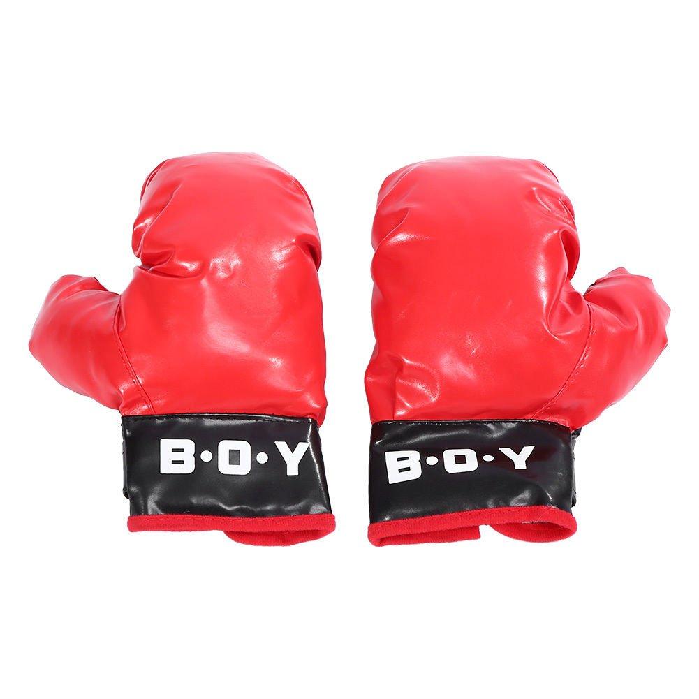 Sac de Frappe Enfant Punching-Ball Hauteur Reglable 70-105cm Sac de Frappe Boxe sur Pied avec Gants et Pompe pour Enta/înement de Boxe