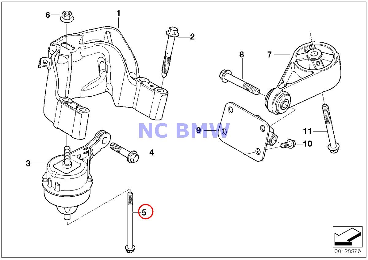 Cooper S Coop.S JCW GP Cooper S BMW Mini Genuine Torx Bolt for Engine Mount 10 X 125 mm
