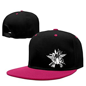 Adult Lil Wayne Adjustable Snapback Flat Baseball Cap - 5 Colors Pink