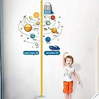 PAPERKIDDO Babytillväxtdiagram höjdmätningslinjal för barn pojkar flickor 3D flyttbara raket väggdekaler för dagis…