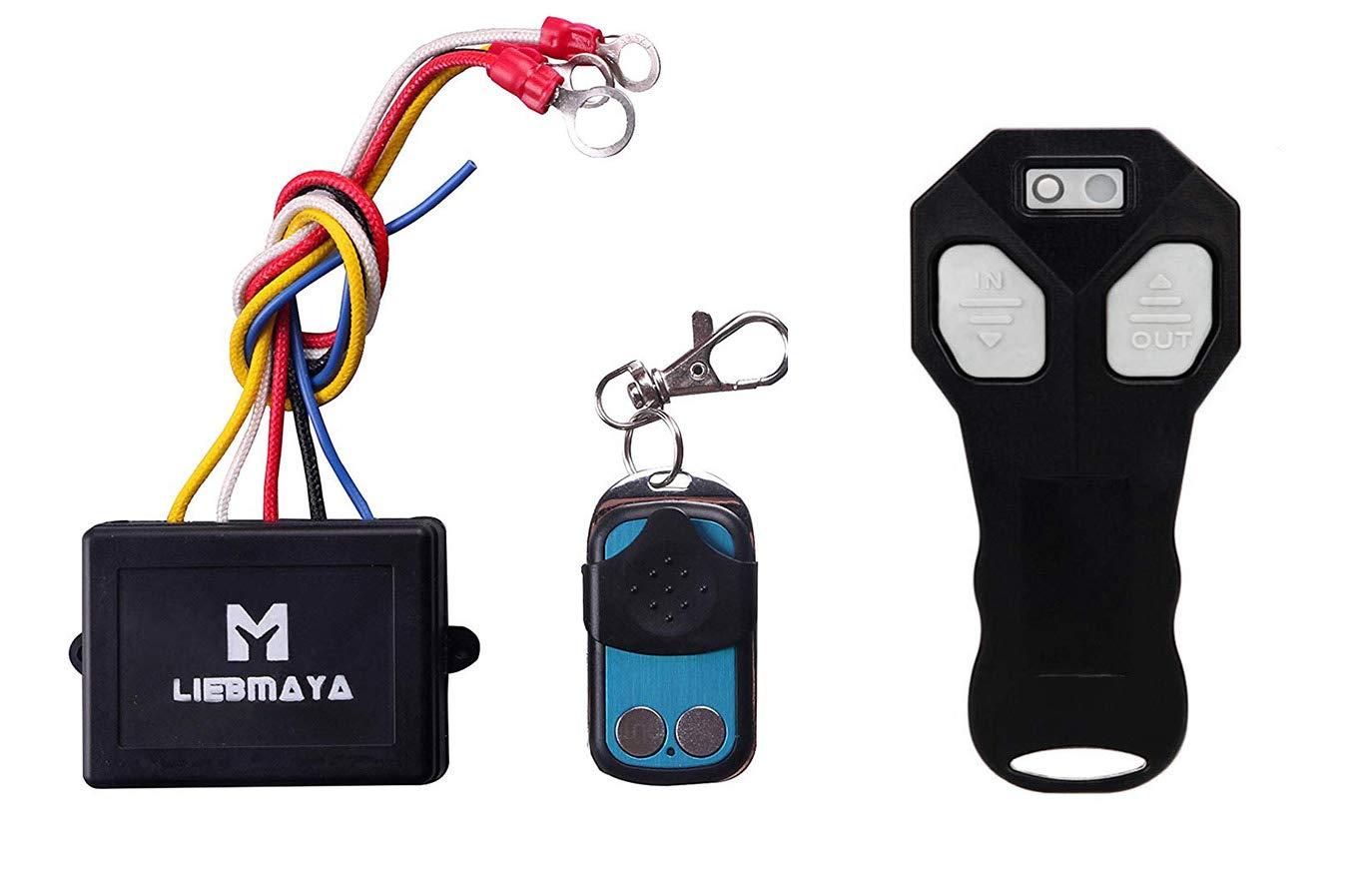 LIEBMAYA Set 2 Telecomando Wireless Per Verricello Camion Jeep DC12V Senza Fili Ottima JEEP ATV 12V impermeabile