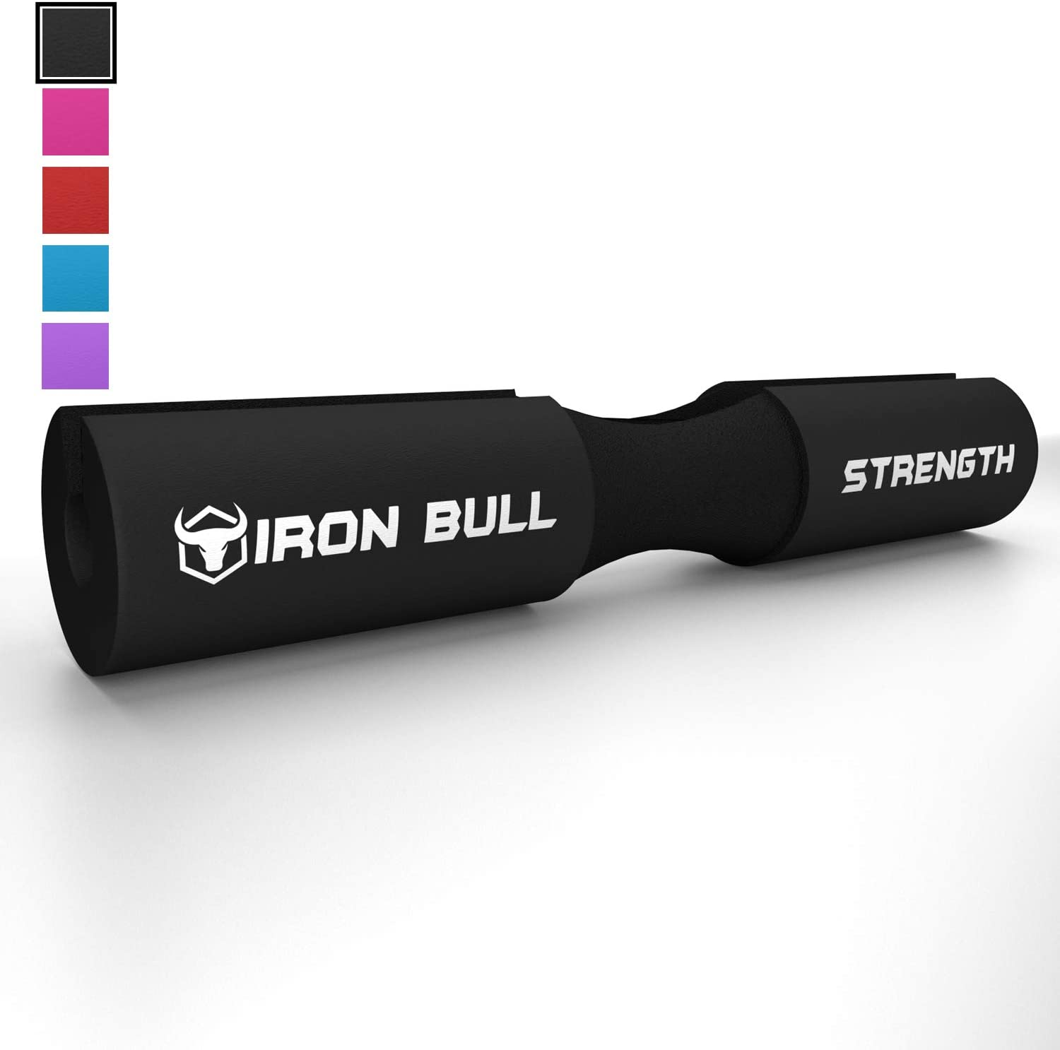 Iron Bull Strength Advanced Squat Pad - Barbell Pad for Squats, Lunges & Hip Thrusts - Neck & Shoulder Protective Pad Support (Black) : Garden & Outdoor