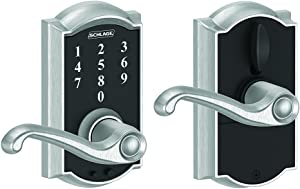Schlage Touch Camelot Lock with Flair Lever (Satin Chrome) FE695 CAM 626 FLA