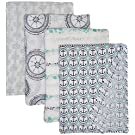 aden + anais Classic Muslin Swaddle Blanket 4 Pack, Ahoy Baby Nautical Anchors Limited Edition