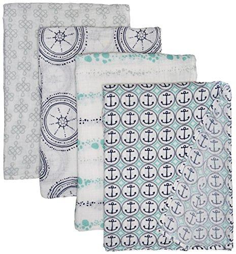 Classic Swaddle Blanket Nautical Anchors product image