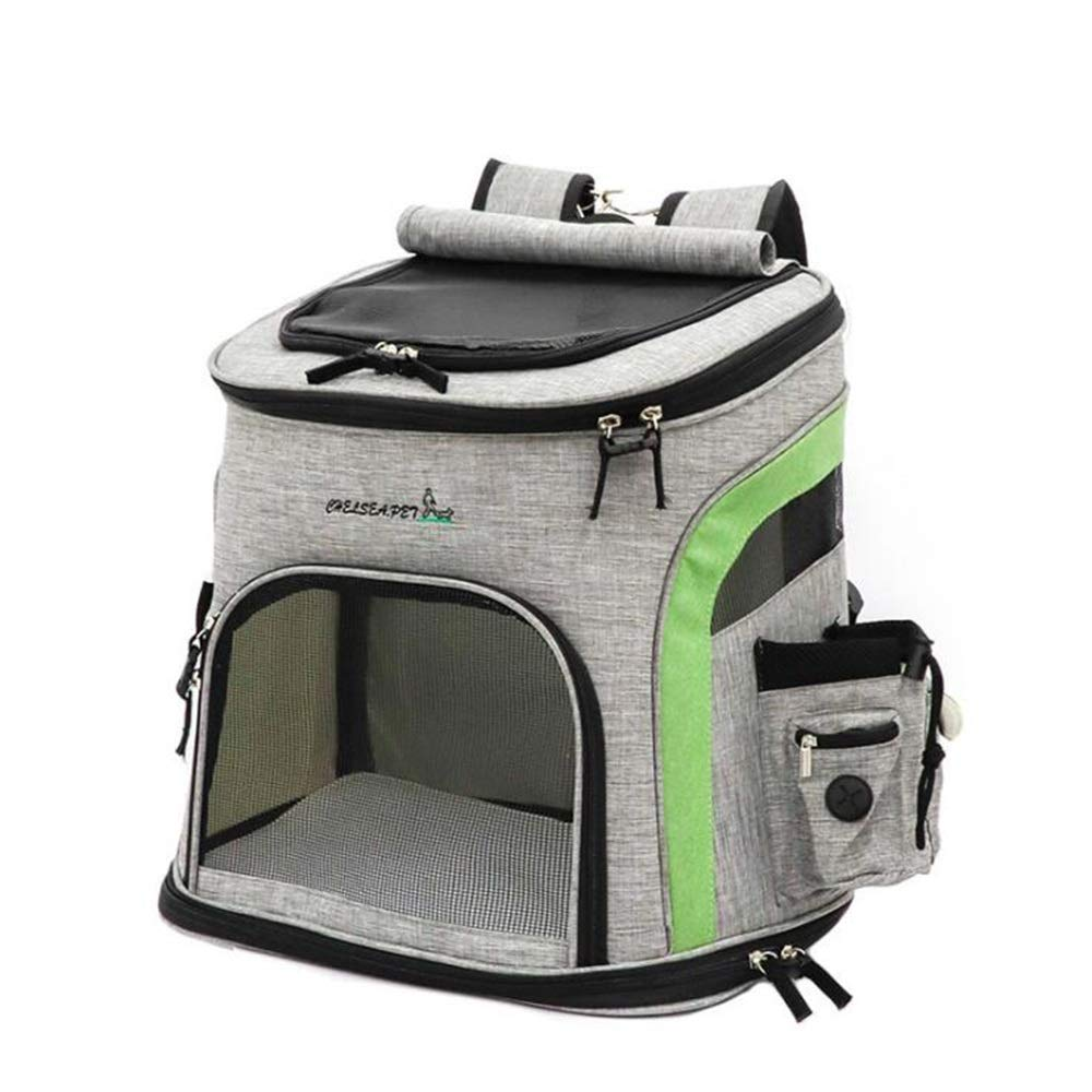Green Pet travel backpack for cats and dogs (color   Green)