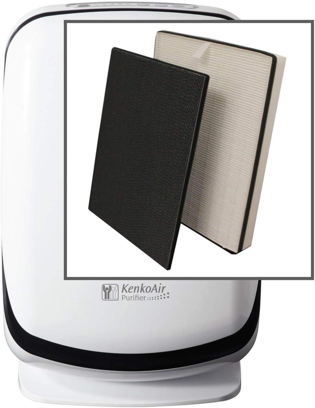 Nikken KenkoAir - Paquete de filtros para purificador HEPA ...