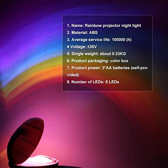 Cheerfulus Arco Iris - Proyector LED de luz Nocturna, mágico Arco ...