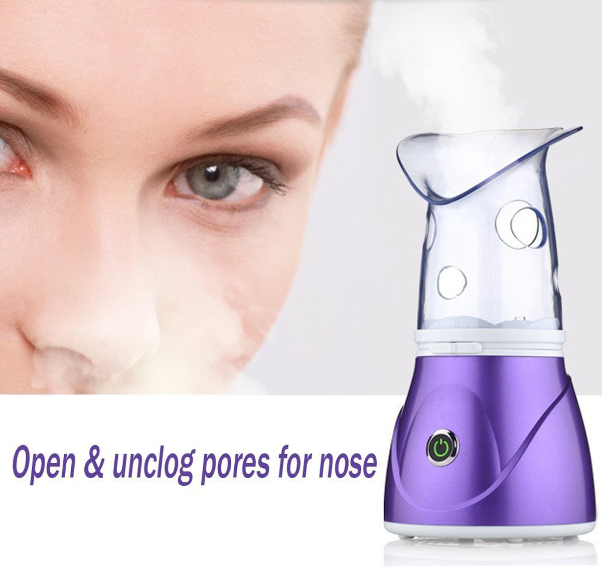 Facial Steamer, szwintec Professional Sinus Steam Inhaler Face Skin Moisturizer Facial Mask Sauna Spa Steamers Sprayer with Aromatherapy Diffuser Humidifier Function by szwintec (Image #6)