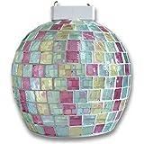 【モザイクシーリング】透明感を感じるモザイクの彩色でこだわりな灯りを! シーリングライト 1灯 クリアピンク