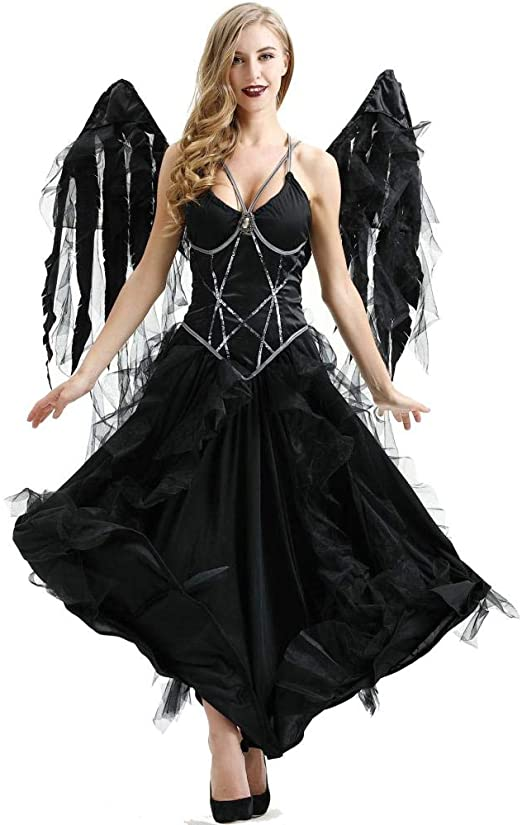 Halloween Dark Angel Costume Pack Diablo Vampiro Ghost Festival ...