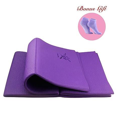 Plegable antideslizante colchoneta de ejercicios de Yoga de ...