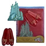 Kurt Adler Plastic Wizard of Oz Light Cover Emerald City and Ruby Slippers Set, 2-Piece