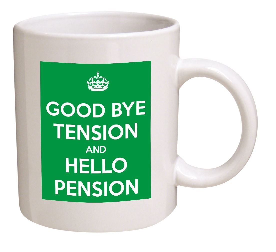 Amazon keep calm good bye tension hello pension retired amazon keep calm good bye tension hello pension retired retirement 11 oz coffee mug nice motivational and inspirational gift kitchen dining negle Images