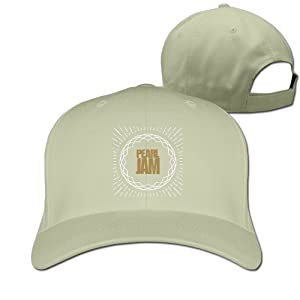 Adult Pearl Jam The Global Citizen Cotton Adjustable Peaked Baseball Cap Natural
