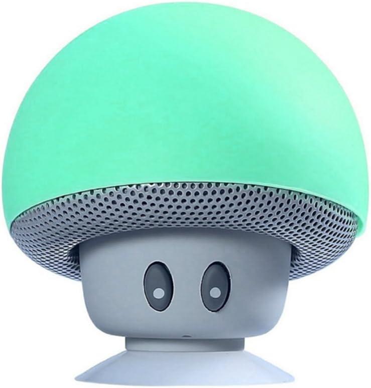 TinyFin Mini Bluetooth Wireless Portable Mushroom Speaker with Sucker Function Green for Smartphone