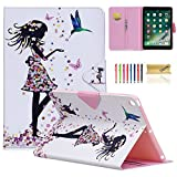 New iPad 9.7 2017/2018 Case, Dteck PU Leather Colorful Painting Wallet Folio Stand Case Smart Cover with Auto Sleep/Wake for iPad 9.7 inch 2017 2018 Released, Beautiful Girl