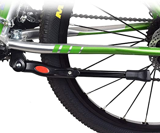 Kashyk – Soporte universal para bicicleta de montaña, ajustable, con base de goma antideslizante, aleación de aluminio, soporte lateral para bicicleta de montaña, de carreras, de mujer, E-Bike, etc.: Amazon.es