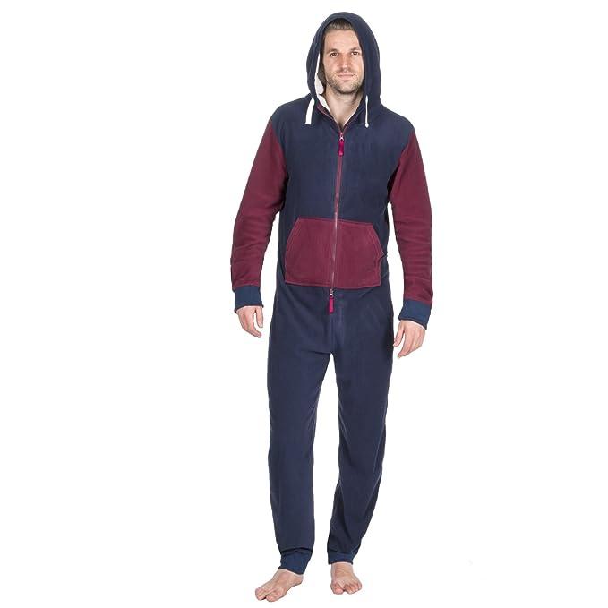 8199065b1318 ONEZEE Adult Men s Contrast Jumpsuit - Sherpa Fleece Lined Hooded  Sleepsuit  Amazon.co.uk  Clothing