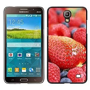 LECELL--Funda protectora / Cubierta / Piel For Samsung Galaxy Mega 2 -- Macro de la fruta de la fresa arándano --