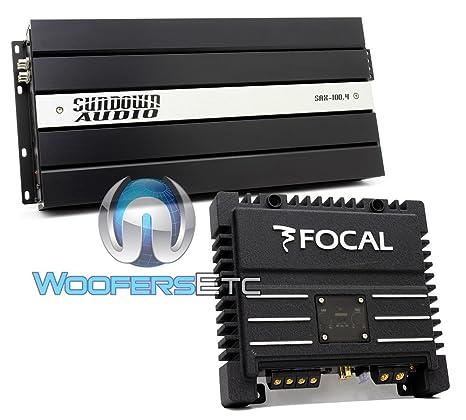 Pkg Sundown Audio sax-100.4 V2 4 canales Amplificador de 600 W RMS + Focal