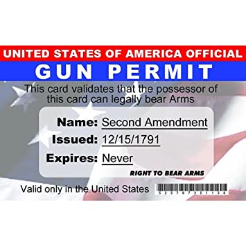 amp; Gun Fun Kitchen Amazon Permit's Home Signs 4 com Driver's Nid2a License