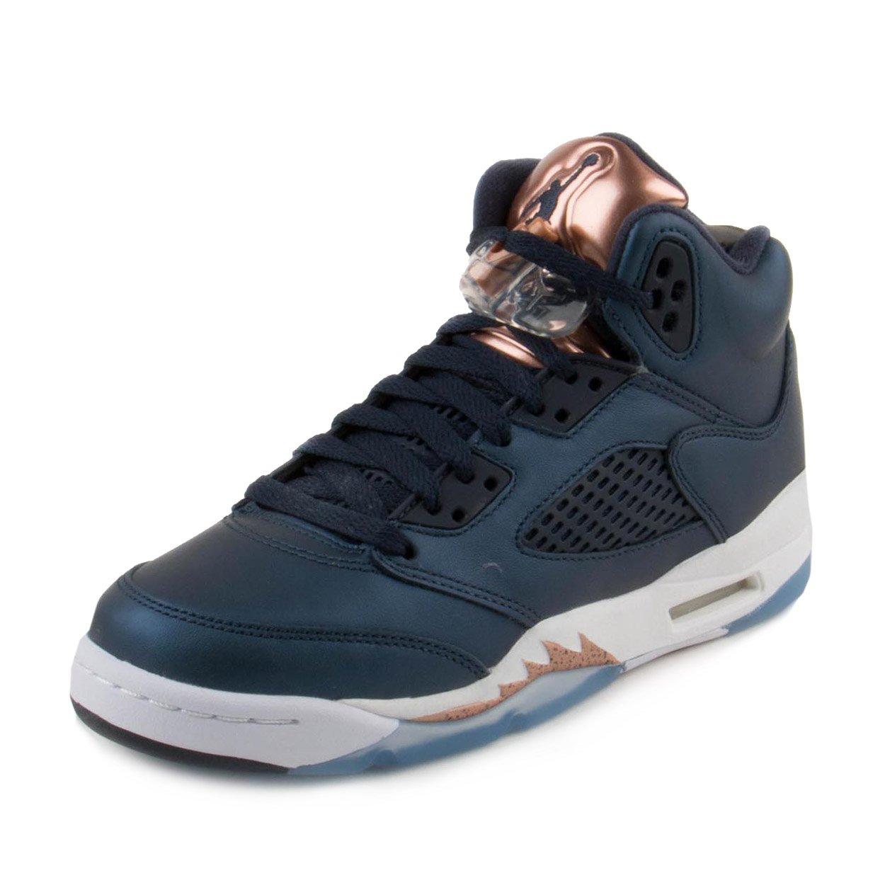 e9cde70053f2be Jordan Air 5 Retro BG Bronze V Youth Lifestyle Sneakers Obsidian - 5.5