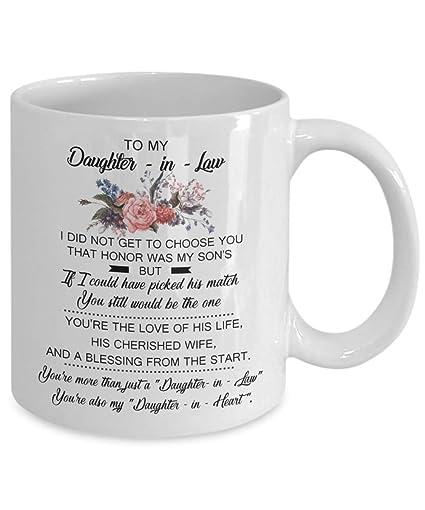 TO MY DAUGHTER IN LAW White 11oz Mug Unique Ceramic Coffee Tea